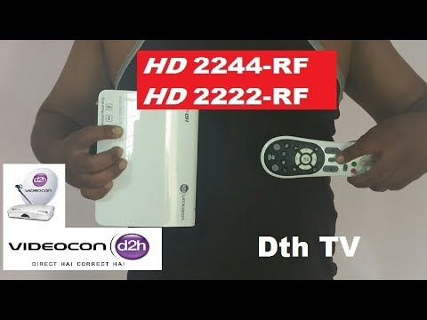 Videocon D2H RF Remote control  Pairing in 1 Minutes ( Hindi ) {HD  2244 RF Model}