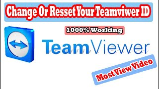 How to change or reset team viewer ID-Commercial Use Detected Solved-100%  working Any Version