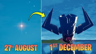 Evolution of how GALACTUS arrived in Fortnite Island Pt.2 (Full Time lapse) | Galactus Rising