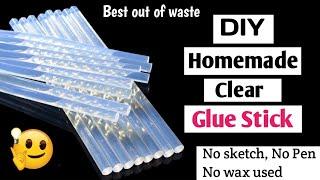 DIY Homemade Glue Stick/How T๐ Make Glue Stick At Home/Homemade Glue Gun Stick/Glue Stick Making/DIY