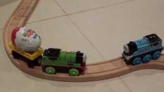 Thomas, Percy & the melted Kinder Surprise Egg Adventure