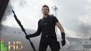 Hawkeye ALL FIGHT Scenes HD - Captain America Civil War