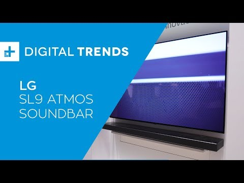 LG SL9 Atmos Soundbar - Hands On at CES 2019 - YouTube