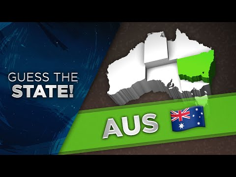 Guess the State/Territories of Australia!