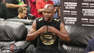 Floyd Mayweather claims he knows McGregor's gameplan already, gives him tips