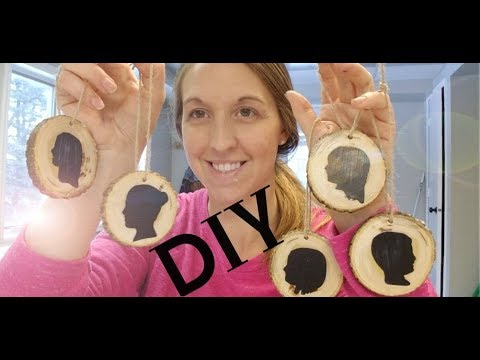 Vlog #21:  DIY wood silhouette ornaments!