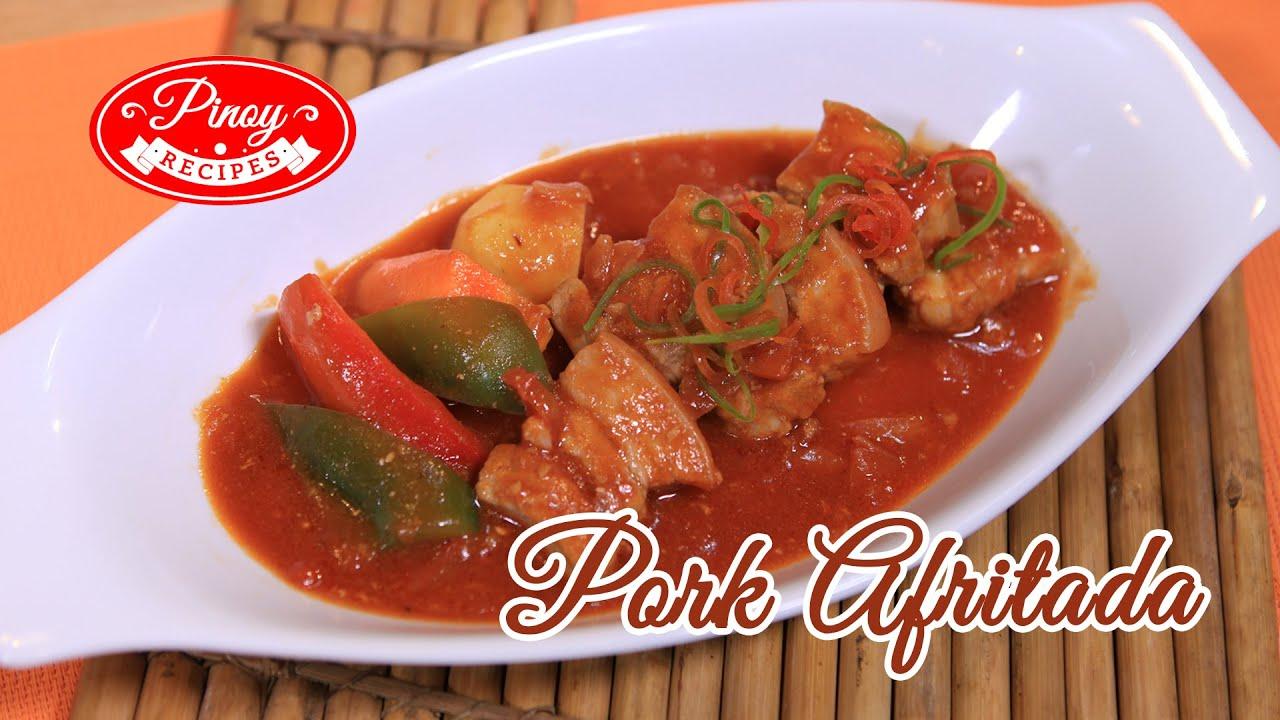 Pork Afritada Pinoy Recipe How to cook Pork Afritada Pinoy