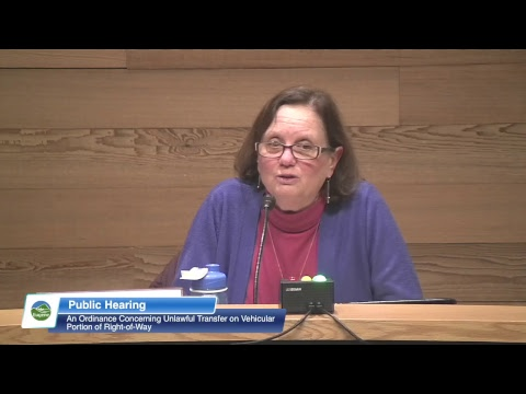 Eugene City Council Public Hearing: February 19, 2019 Mp3