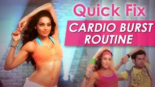 Quick Fix Cardio Burst Routine - Fat Burning Exercise - Bipasha Basu Love Yourself