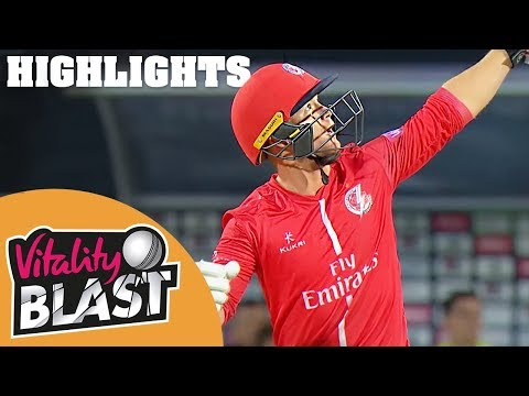 Roses Rivalry Produces High Scores | Yorkshire v Lancashire | Vitality Blast 2018 - Highlights