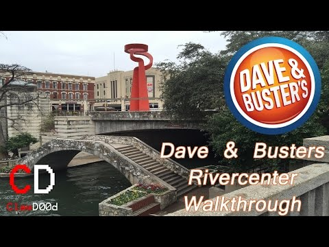 NEW!! Dave and Busters Rivercenter Walkthrough