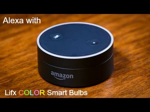 echo dot alexa with lifx smart bulbs youtube. Black Bedroom Furniture Sets. Home Design Ideas