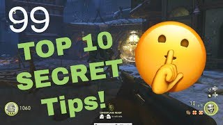 Top 10 SECRET Tips ACTIVISION Would NOT Want You To Know | COD WW2 Zombies