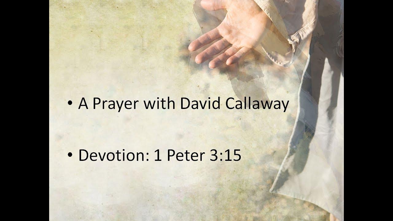 APRIL 22, 2020                                 1PETER 3:15