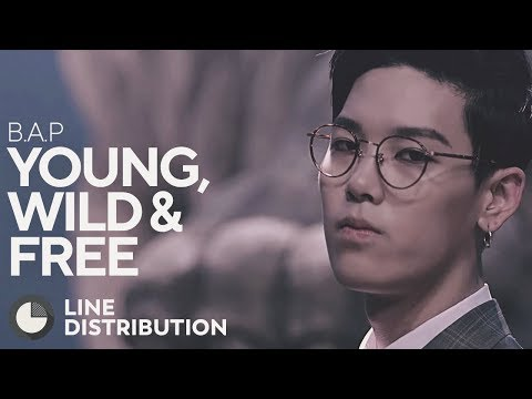 B.A.P - Young, Wild & Free (Line Distribution)