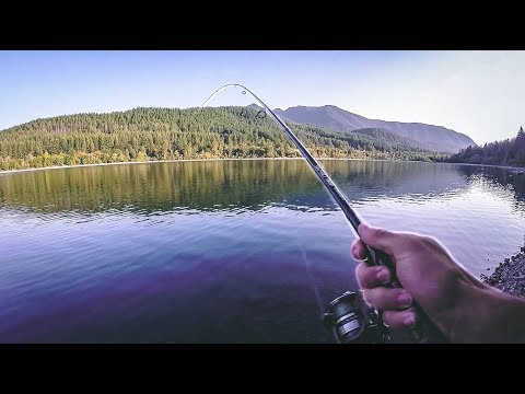 Trout Fishing DEEP In The Mountains- Rattlesnake Ledge Hiking