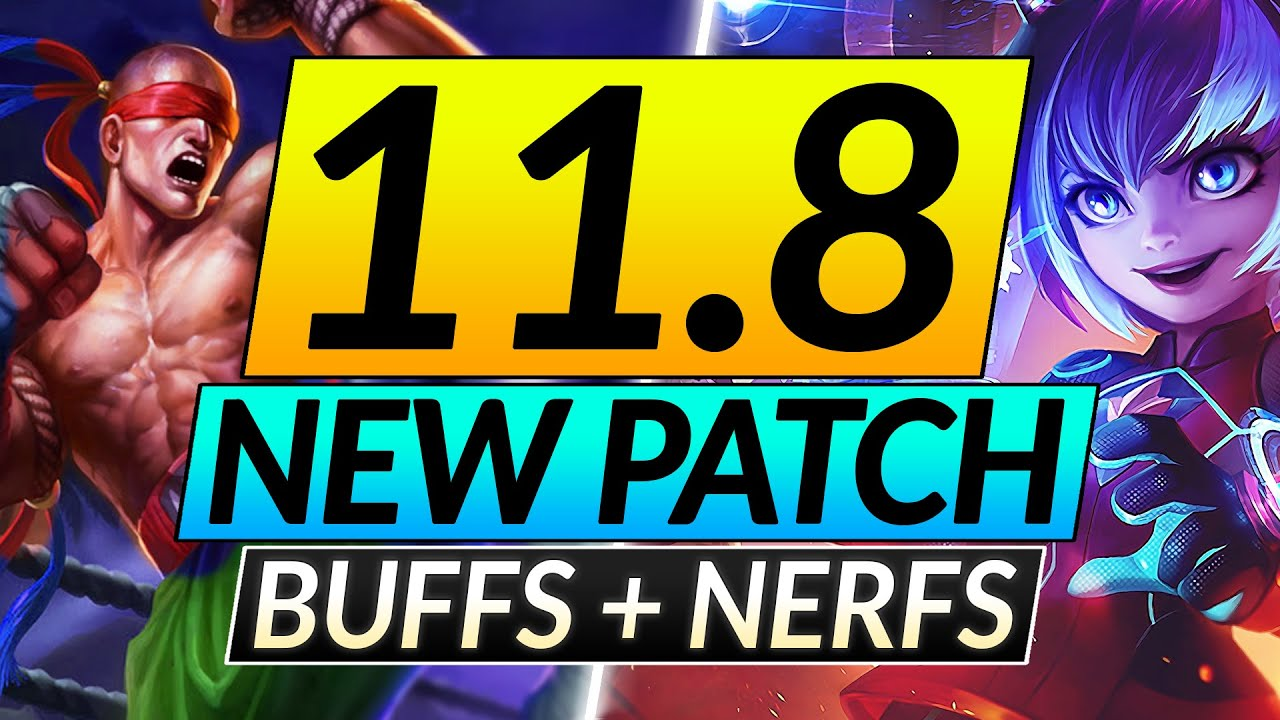 NEW 11.8 Patch MASSIVE Changes - ALL Champion BUFFS and NERFS - LoL Update Guide