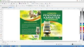 How to make book cover coreldraw X7 tutorial interaktif cara membuar cover buku