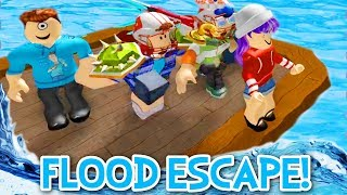 FLOOD ESCAPE 2 IN ROBLOX! | RADIOJH GAMES & MICROGUARDIAN