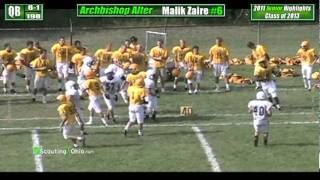 2013 Malik Zaire - Archbishop Alter - Jr yr - QB 6 - Football