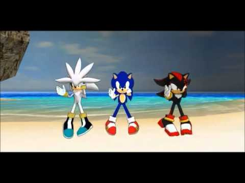 Sonic,Shadow,And Silver Dance The Macarena Dance