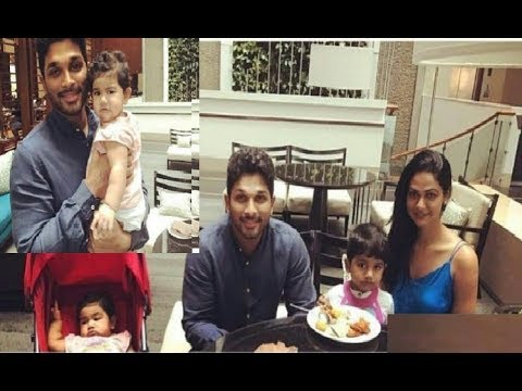 Allu Arjun Sneha Reddy with Daughter ARHA and Son Ayaan Father's day Celebrations