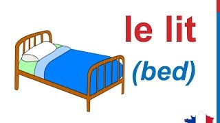 French Lesson 84 - Bedroom - La chambre - Furniture Accessories Household Vocabulary