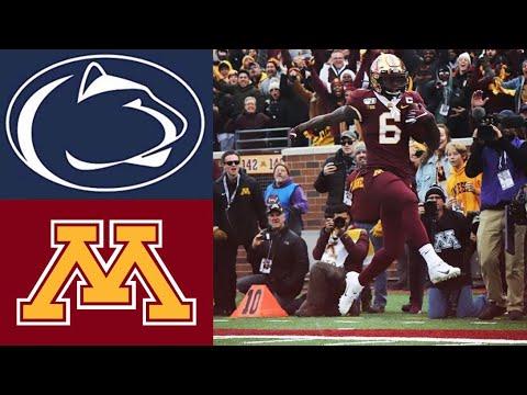 #4 Penn State vs #17 Minnesota Highlights   NCAAF Week 11   College Football Highlights