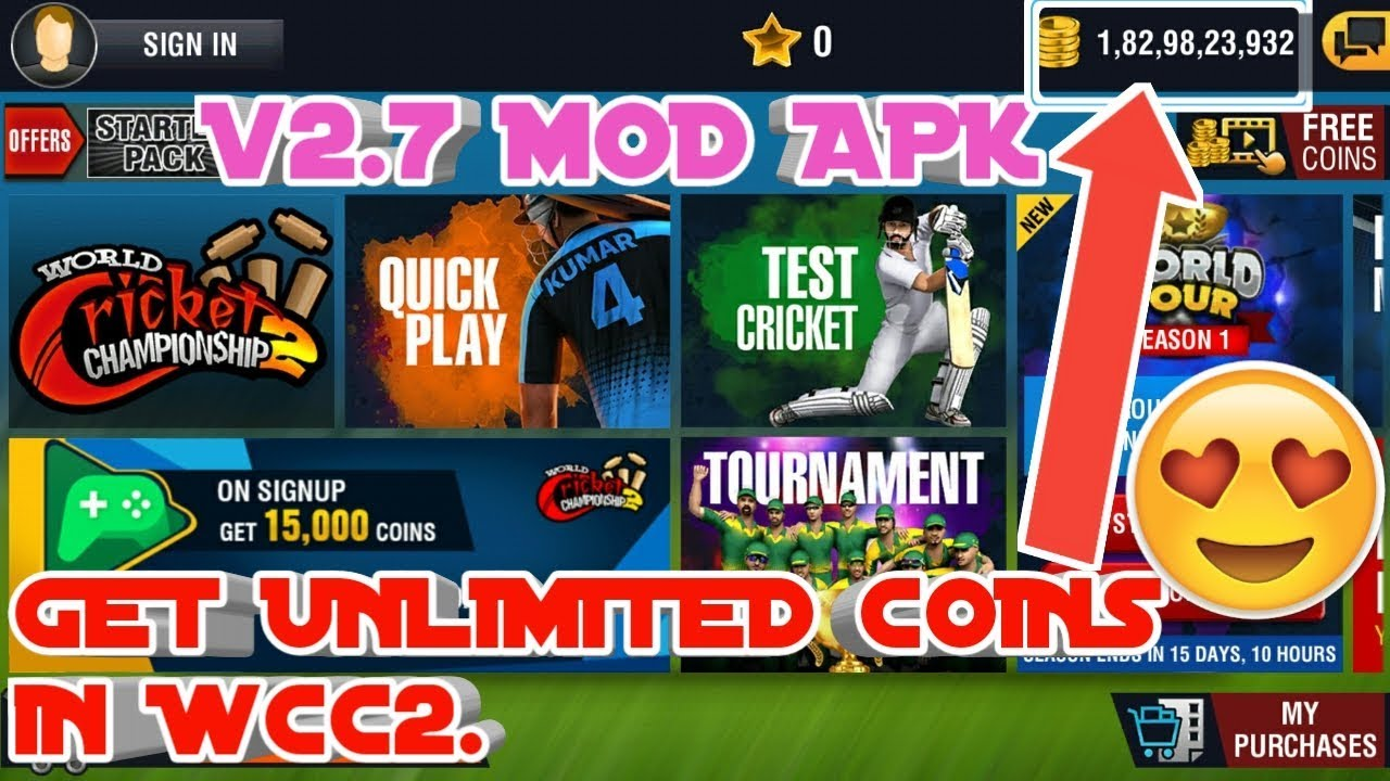 Wcc2 latest version (2.7) mod APK    everything unlocked and unlimited coins    2018