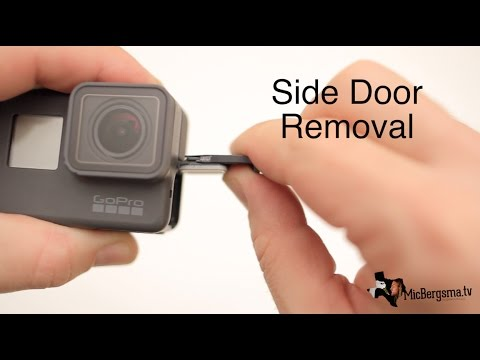 GoPro Hero7 Hero6 Hero5 Side Door Removal (avoiding breaking it!!) GoPro Tip #576 | MicBergsma