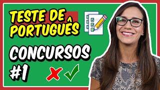 #1 TESTE de PORTUGUÊS para CONCURSOS PÚBLICOS    Prof. Letícia Góes