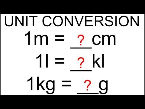 Unit Conversion Maths   How To Convert Units   Convert mm, cm, m and km   Measurement Table