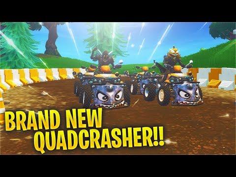 *NEW* Quadcrasher Vehicle Gameplay + NEW LOCATION! (Fortnite)