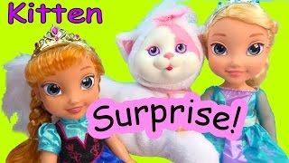 Disney Frozen Queen Elsa & Princess Anna Toddler Kitty Surprise Baby Kitten Mystery Toy Cookieswirlc