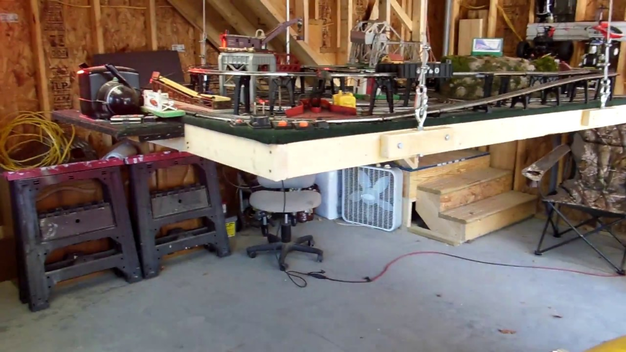 Lionel Train Layout Hoist Lift Youtube