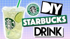 DIY Summer Starbucks Drinks! Cool Lime Refresher!