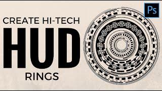 Make Hi-Tech HUD Rings in Photoshop - Make awesome circles with Polar Co-ordinates