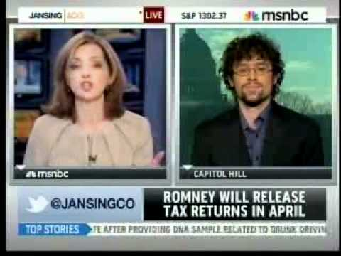 MSNBC on Romney and taxes, 1/18/12