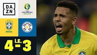 Gabriel Jesus schießt Selecao ins Halbfinale: Brasilien - Paraguay 4:3 n.E. | Copa America | DAZN