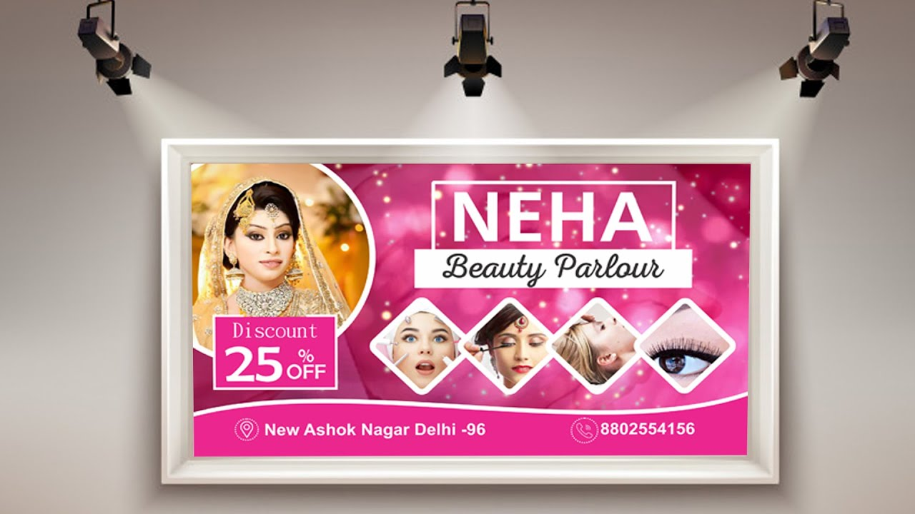Coreldraw Flex Banner Design Beauty Parlour Banner Design Youtube