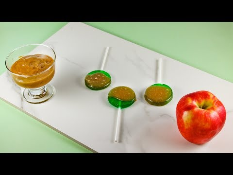 How To Make Caramel Apple Suckers | Apple Flavored Suckers Coated In Caramel