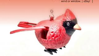 Solar Powered Flying Cardinal Bird with Clip Hanger New  | eBay