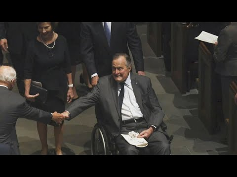 Former President George H.W. Bush hospitalized in Maine