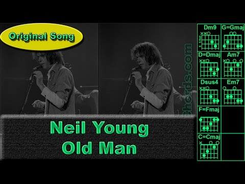 Neil Young - Old Man - Original - Guitar Chords (0019-A1)