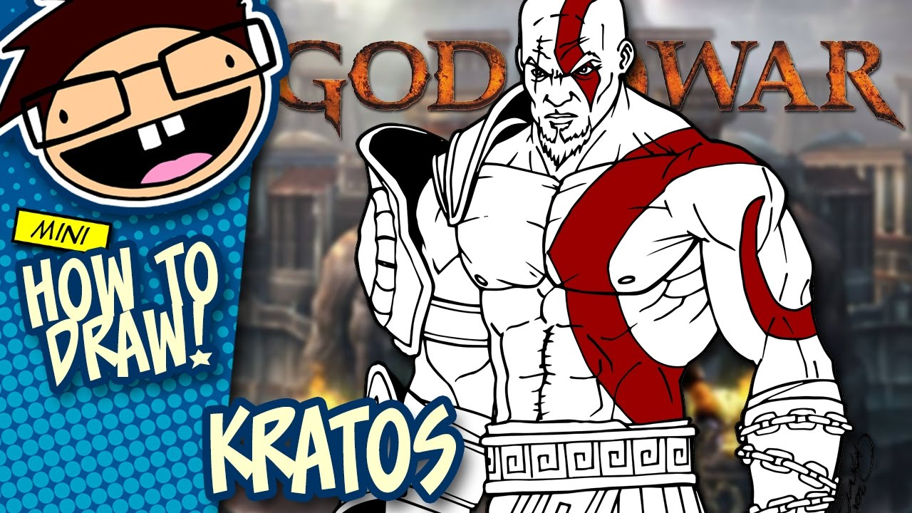 How To Draw Kratos God Of War Narrated Easy Step By Step Tutorial