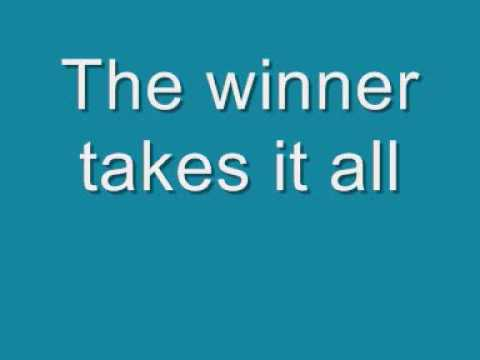 ABBA  The Winner Takes it All Lyrics