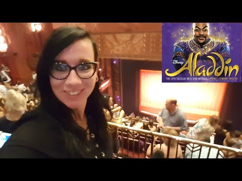 Vlog: Seeing Aladdin The Musical In London