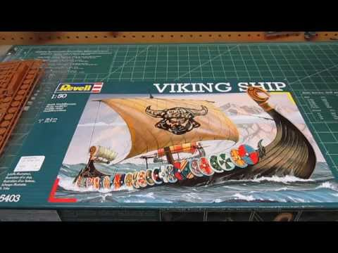 Revell Germany 1/50 Viking Ship Plastic Model Kit Open Box Review