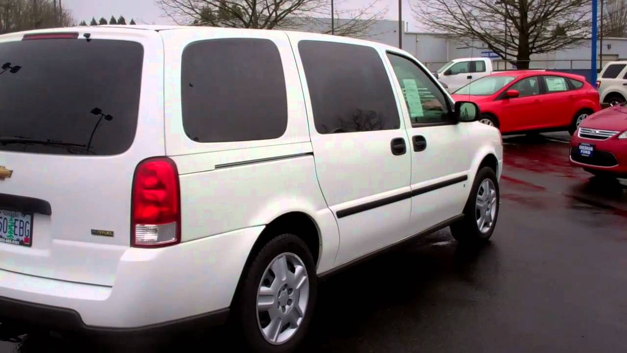 All Chevy 2000 chevy uplander : Chevy Uplander 7 passenger van with removable seats at Gresham ...