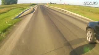 Интересное развлечение у этого водителя БМВ. Калининградская область.